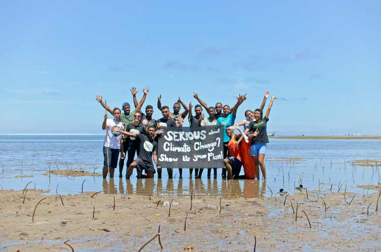 Mangrove Planting in Navutulevu Village on the Coral Coast, Fiji