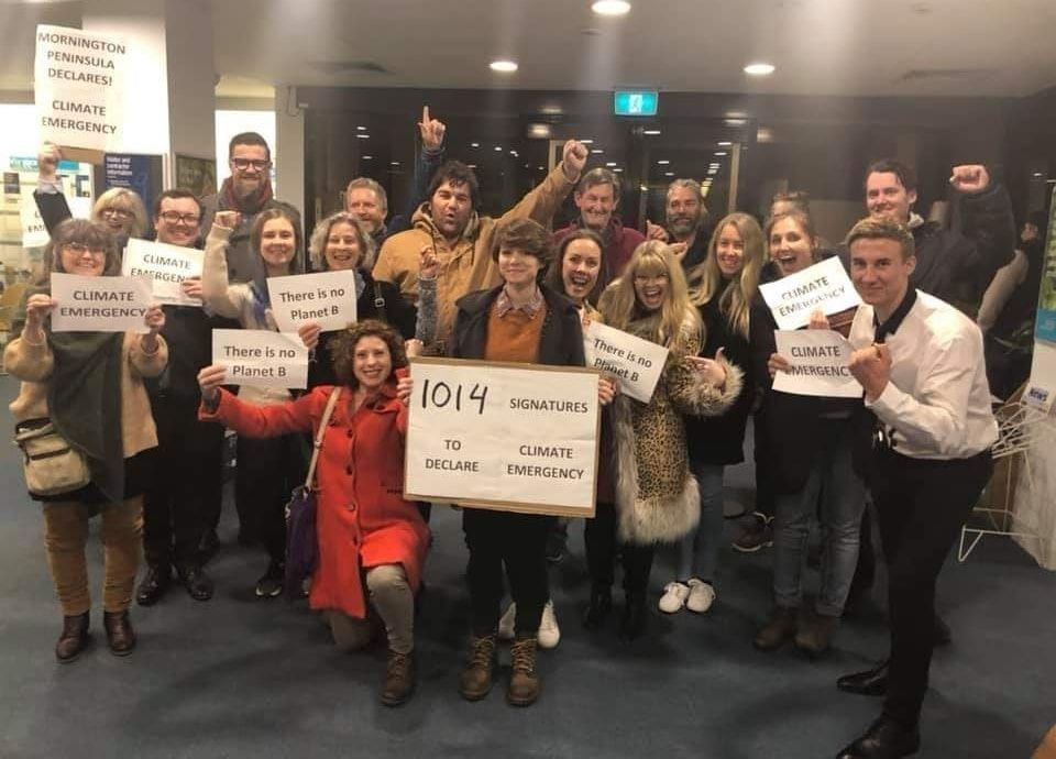Local campaigners celebrate Mornington Peninsula climate emergency declaration