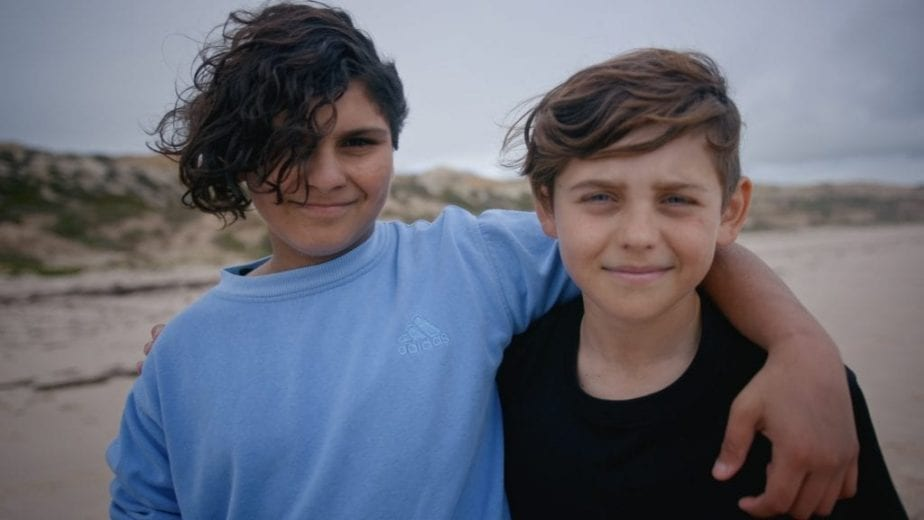 Two children who are Mirning people from Great Australian Bight