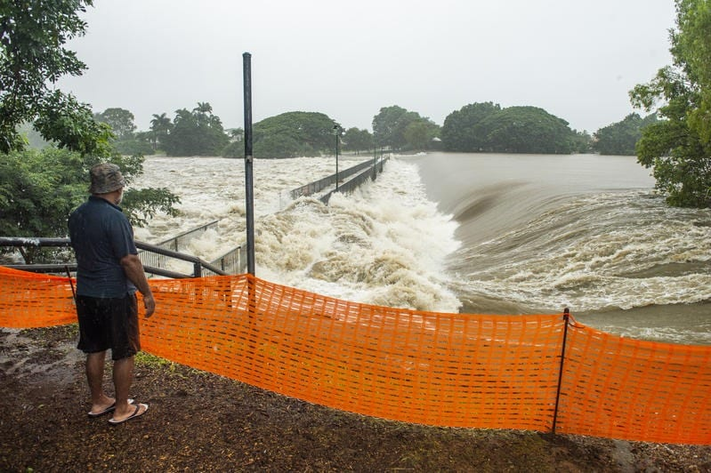 Floods in Townsville, Queensland, are an example of extreme weather event happening in Australia