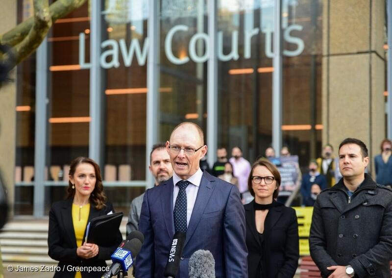 David Ritter (CEO) speaks at AGL v Greenpeace Court Hearing press conference.