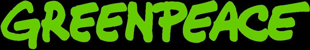 Greenpeace logo in green, as of 2021